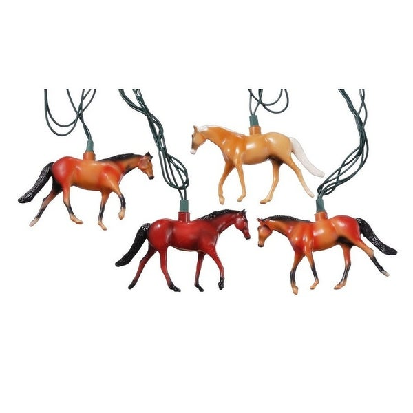 Gift Corral Western Horses Light Strand Patio Christmas Brown