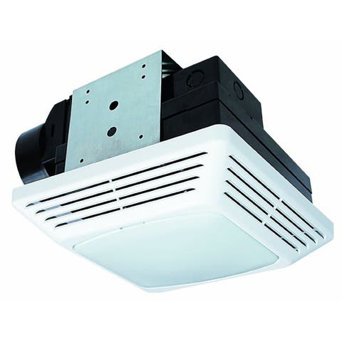 Air King BFQL70 70 CFM 2 Sone Ceiling Mounted LED Light Snap-In Energy Star Rated Exhaust Fan - White