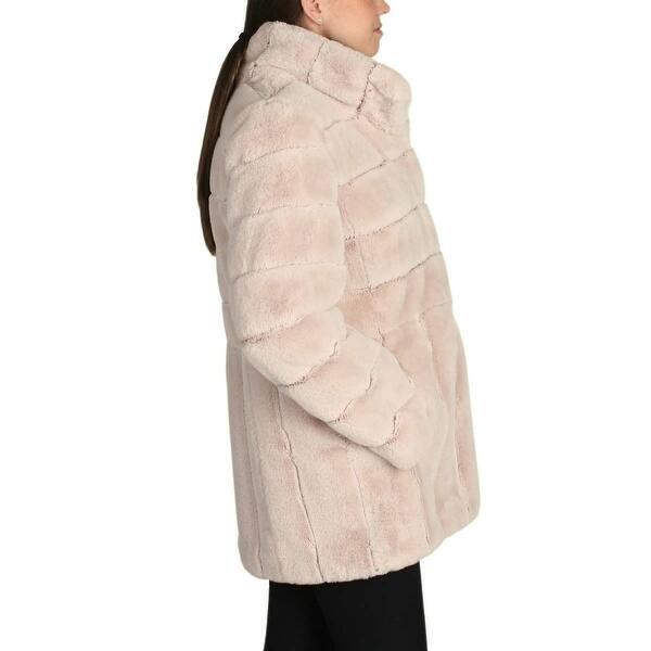 Kristen Blake Women Faux Fur Coat Jacket - Beige - X-Large - Overstock -  27286541