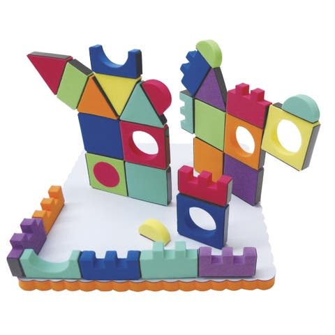 Edushape Magnetic Magic Shapes, Assorted Shapes and Colors, Set of 81