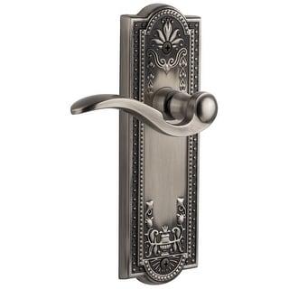 "Grandeur PARBEL_PRV_234  Parthenon Solid Brass Rose Privacy Door Lever Set with Bellagio Lever and 2-3/4"" Backset"