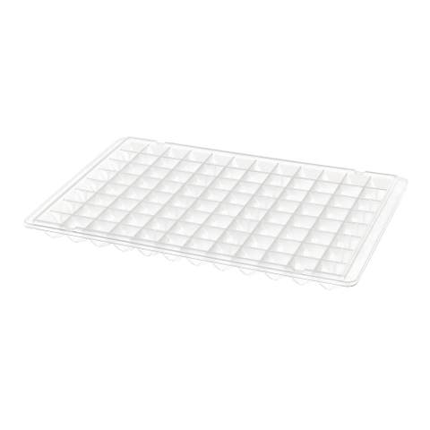 96 Grooves Design Clear White Plastic Ice Tray Pan Mold For Fridge