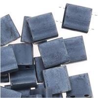 Miyuki Tila 2 Hole Square Beads Matte Blue Gray 7.2 Grams