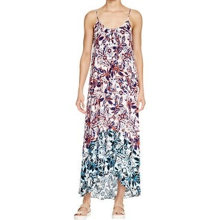 Aqua Womens Maxi Dress Printed Scoop Neck