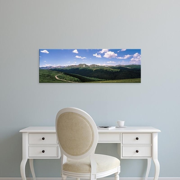 Easy Art Prints Panoramic Images's 'View of a mountain range, Rocky Mountain National Park, Colorado' Canvas Art