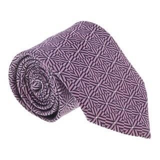 Ermenegildo Zegna Pink-Navy Hexagon Stripe Tie - 60-3