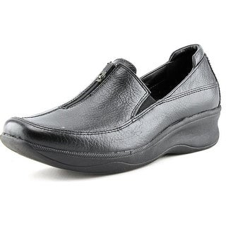 Hush Puppies Genuine Women Round Toe Leather Loafer