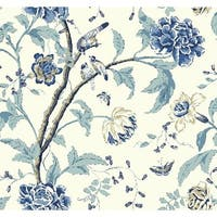 York Wallcoverings EB2076 Candice Olson Vibe Teahouse Floral Wallpaper - N/A