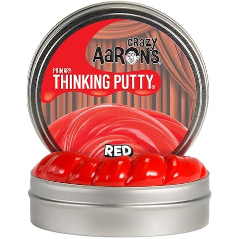 "Crazy Aaron's Thinking Putty Full Size 4"" Tin Red"