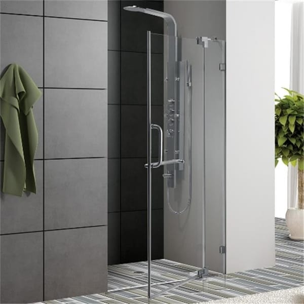 Shop 60 Inch Frameless Shower Door 37 In Clear Glass Chrome