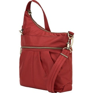 Travelon Anti-Theft Signature 3 Compartment Crossbody Bag, Cayenne