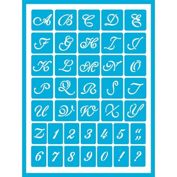"""Americana Gloss Enamel Stencils 8""""X6""""-Monogram"""