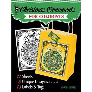 "Hot Off The Press Coloring Book 5""X6""-Fancy Christmas"
