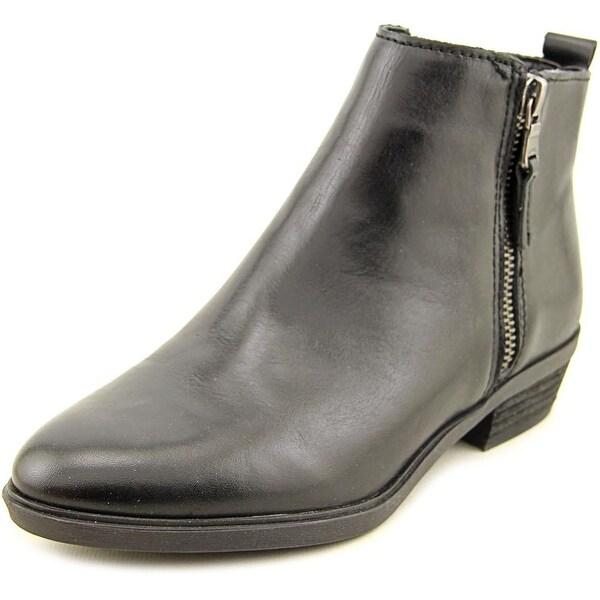 Lauren Ralph Lauren Shira Women Round Toe Leather Black Ankle Boot