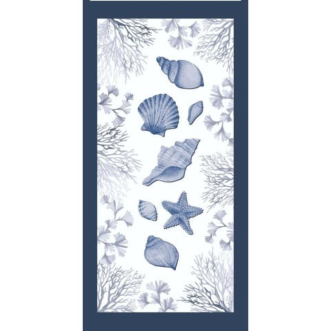 Seashells 30x60 Beach Towel