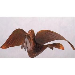 Ancient Graffiti Peace Dove Flamed Hanging Metal Ornaments