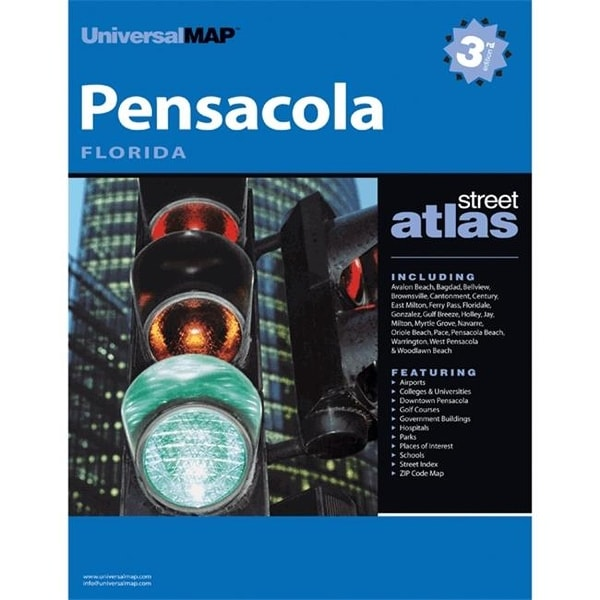 Shop Universal Map 0762563966 Pensacola Fl Atlas Free Shipping On