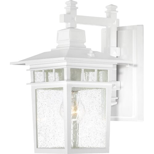Nuvo Lighting 60/4957 Cove Neck 1 Light Outdoor Lantern Wall Sconce in White