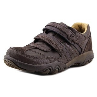 Stride Rite SRT Ps Zeke Youth Round Toe Leather Brown Sneakers