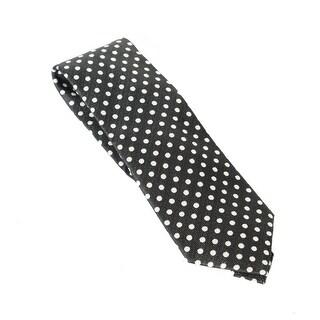 Sean John NEW Black White Mens One Size Basket Weave Dot Neck Tie Silk