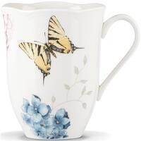 Lenox 841008 Butterfly Meadow Hydrangea Dinnerware Mug, 12 oz