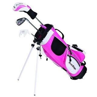 Tour Edge HT Max-J Junior Girl RH 2x1 Pink Golf Set Age 3-5