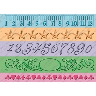 "Cuttlebug 7"" Border Embossing Folders 5/Pkg-Measure By Measure"