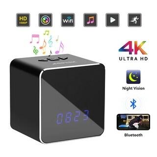 Spy Hidden Camera Security Clock Night Vision 4K 1080P WIFI HD Cam Bluetooth Speaker Wireless Video Recorder
