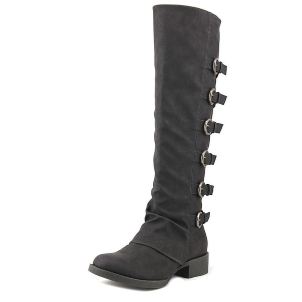 Blowfish Kara Women Round Toe Synthetic Black Over the Knee Boot