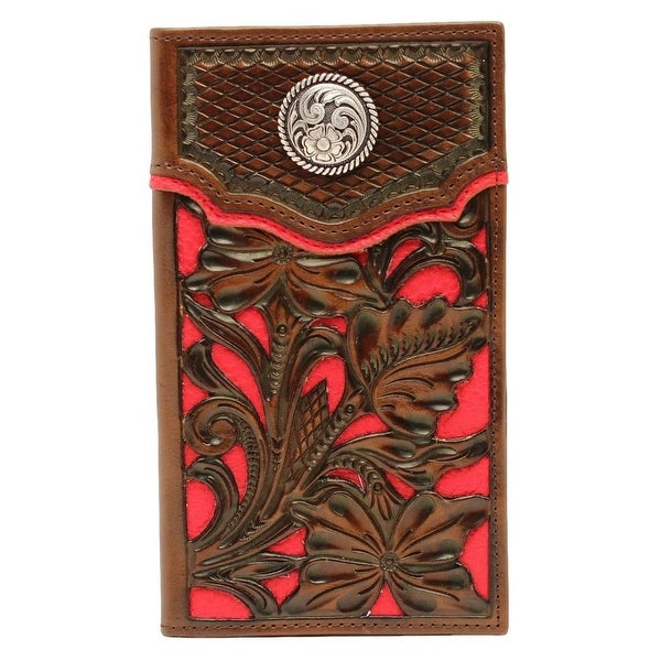Nocona Western Wallet Classic Mens Rodeo Floral Overlay - One size