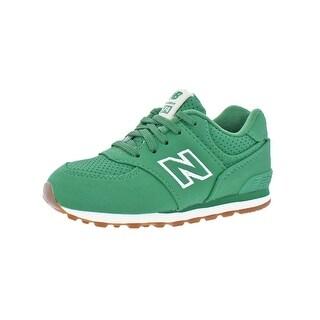 New Balance Boys 574 Fashion Sneakers Solid Fashion - 4 medium (d) toddler
