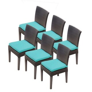 """Miseno MPF-TKC090BADC3XC Wine Country 6-Piece 35-1/2"""" Tall Aluminum Framed Outdoor Dining Side Chair Set"""
