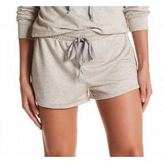 Socialite NEW Oatmeal Beige Womens Size Large L Elastic-Waist Shorts
