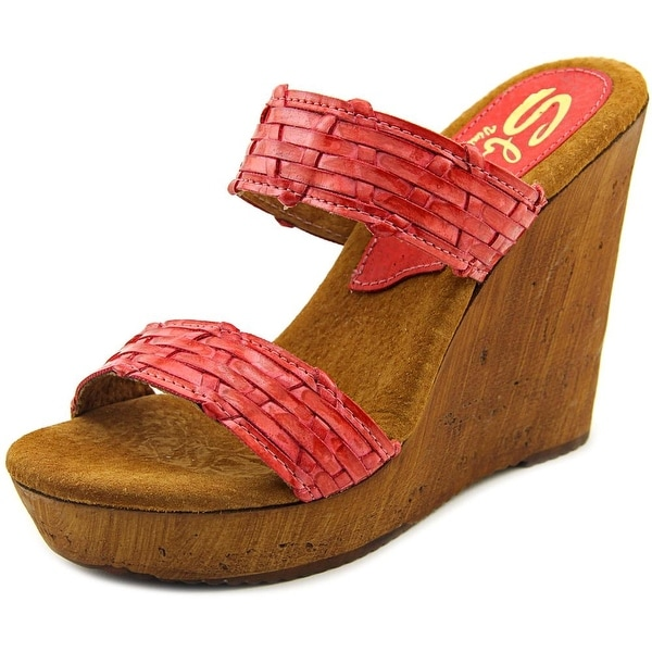 Sbicca Mariana Women Open Toe Synthetic Wedge Sandal