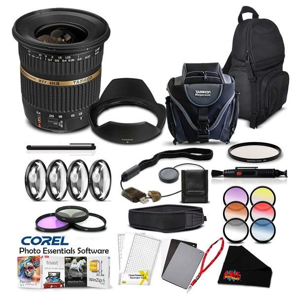 Tamron SP AF 10-24mm f / 3.5-4.5 DI II Lens For Canon Pro Accessory Kit - Black