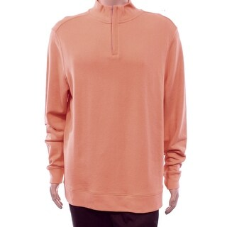 Club Room Melon Mens 1/2 Zip Pullover Sweater