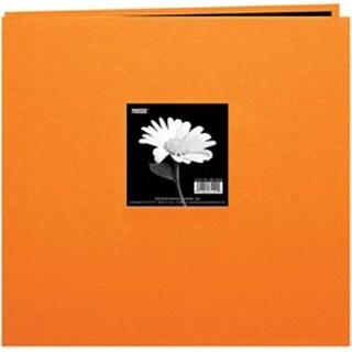 """Orange - Book Cloth Cover Post Bound Album 12""""X12"""""""