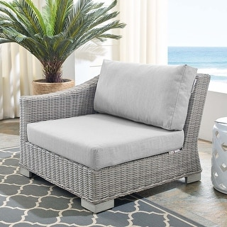 Link to Conway Outdoor Patio Wicker Rattan Left-Arm Chair Similar Items in Outdoor Sofas, Chairs & Sectionals