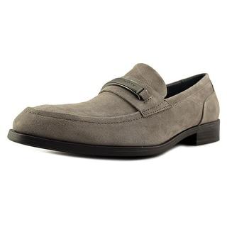 Calvin Klein Douggie Men Round Toe Suede Gray Loafer