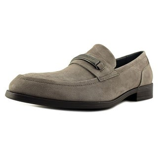Calvin Klein Douggie Men Round Toe Suede Gray Loafer
