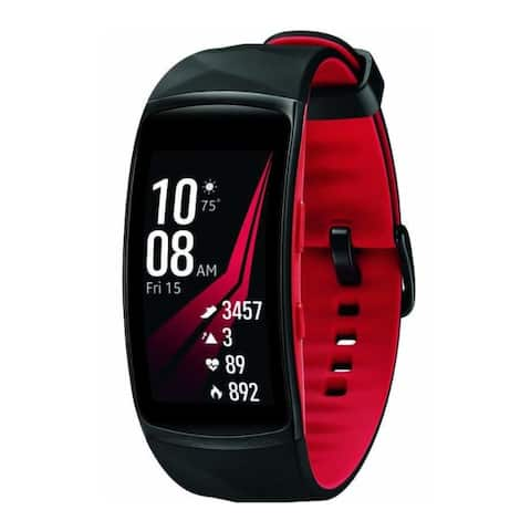 Samsung Gear Fit2 Pro Smart Fitness Band (Small, Red, Refurbished)