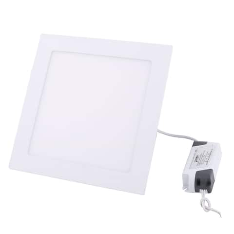 White 15W Square Home Dimmable LED Recessed Ceiling Panel Down Light AC85-265V