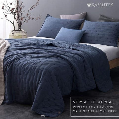 Kasentex Quilt Bedspread Set Soft Machine Washable Hypoallergenic