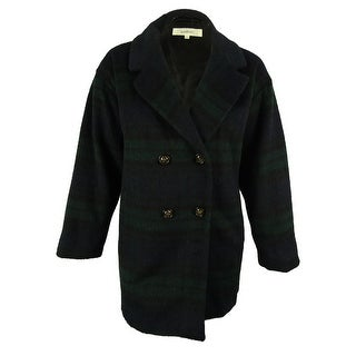 Wildflower Women's Wool Blend Double-Breasted Peacoat - xxl