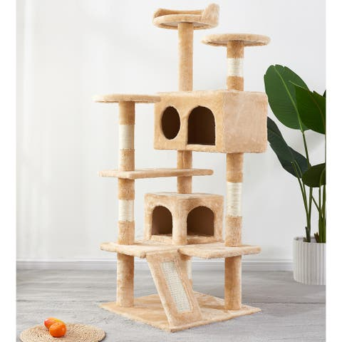 Cat Tree Scratching Board with sisal Rope Yellow