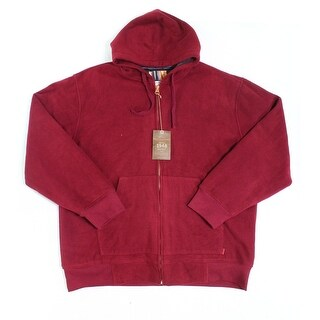 Weatherproof NEW Red Mens Size 2XL Hooded Faux Fur Interior Sweater