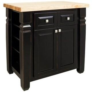 Jeffrey Alexander ISL12 Bungalow Collection 34 x 22 Inch Kitchen Storage Island