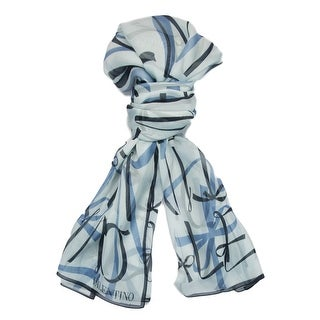 Valentino VS7018 3934 Col.4 Blue Print Silk Ladies Scarves