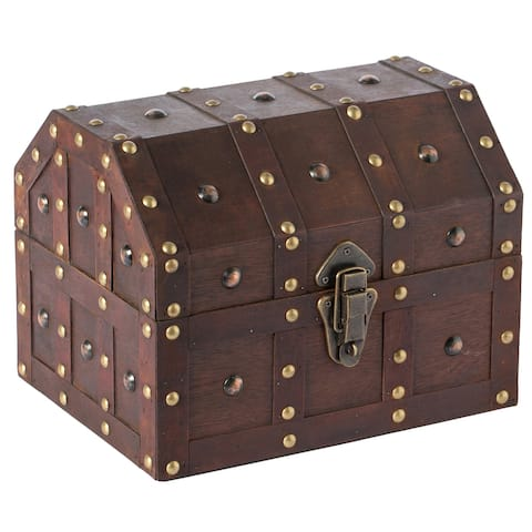 Vintage Caribbean Pirate Chest - Brown
