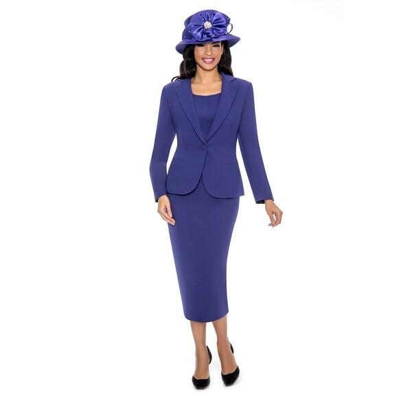 Giovanna Signature Women's Notch Collar 3-pc Skirt Suit. Opens flyout.